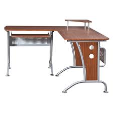 Glass L Shaped Computer Desk Furniture Techni Mobili Graphite U0026 Frosted Glass L Shaped
