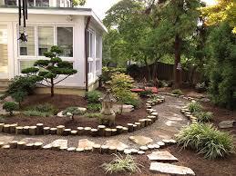 Backyard Plus Backyard Landscaping Design There Is A Beautiful Pagoda Ornament