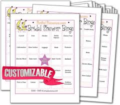 bridal shower gift bingo personalizable bridal shower bingo bridal shower bridal