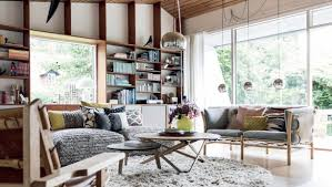 Round Fur Rug by Elegant Dazzling Hoome Interior Design With Classic Sofa And Round
