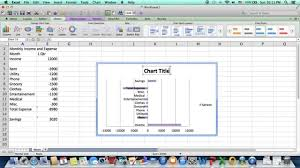How To Make A Spreadsheet For Monthly Bills How To Create A Bar Chart For Income And Expense Youtube