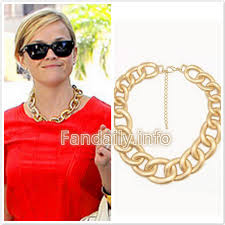 chain necklace style images Reese witherspoon style fashion forever 21 luxe curb gold chain jpg