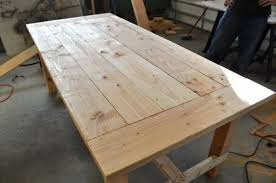 Making A Wood Plank Table Top by Distressed Farm Table Project How To Build A Farm Table For 100