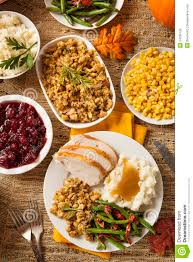 organic thanksgiving dinner homemade turkey thanksgiving dinner royalty free stock photos