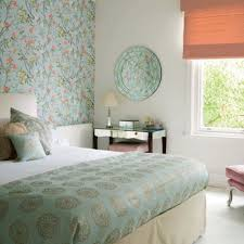 Bedroom Wallpaper In Soft Colors For One Wall Decoration - Bedroom wallpaper ideas decorating