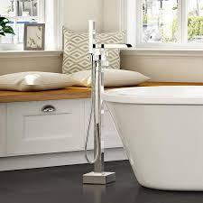 shop ove decors infinity chrome 1 handle adjustable freestanding