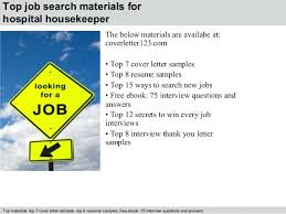 hospital housekeeping resume sample 5 top job search materials for
