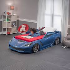 blue corvette bed 2 race car bed replacement stickers step2 corvette toddler to