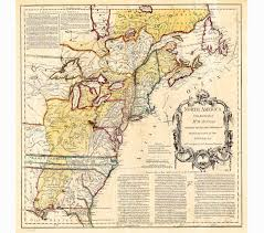 13 Colonies Map Blank by 13 Colonies Map Vintage Us Map Canvas Map Old Wall Art