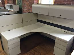 Knoll Reff Reception Desk Used Knoll Reff 6x6x68 49 Used Office Cubicles Used Cubicles
