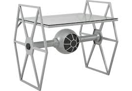 rooms to go white table star wars tie fighter gray desk desks colors
