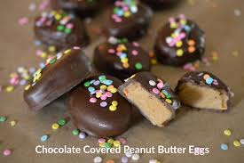 chocolate covered eggs covered peanut butter egg truffles