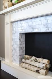 how to make a diy faux fireplace featuring smart tiles adhesive tiles