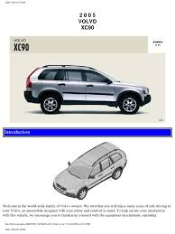 volvo xc90 2005 user manual airbag seat belt