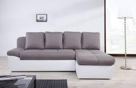 canapé blanc d angle canapé d angle droit candice taupe et blanc