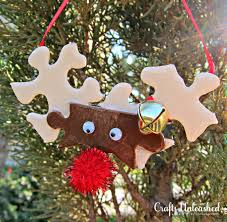 home made decoration pieces make reindeer ornaments from puzzle pieces reindeer ornaments