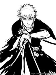 ichigo fast sketch by arya aiedail on deviantart