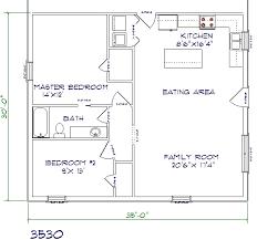 2 bedroom 1 bath house plans floor plans barndominiums