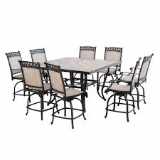Patio High Dining Table by Berkley Jensen Milan 9 Pc High Dining Set Bj U0027s Wholesale Club