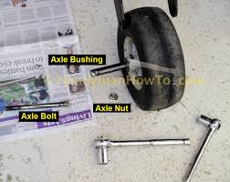 how to fix a leaking lawn mower tire rim