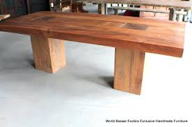 Dining Table Natural Wood Heavy Wooden Dining Room Tables Heavy Duty Wood Dining Table 72