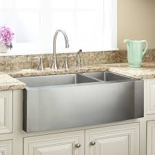 33 inch farm sink 33 ackerman 70 30 offset double bowl stainless steel farmhouse sink