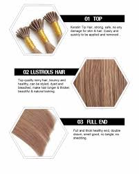 Hair Weave Extensions by Pre Bonded Tiny Tip Double Drawn Fusion Human Hair Extensions I