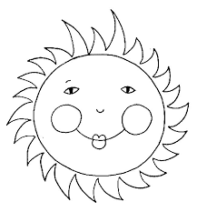 sun coloring pages kids printable coloringstar