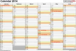 calendar 2014 pdf uk 15 printable templates free