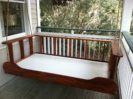 Daybed Porch Swing Wooden Outdoor Daybed Swing Plans Porch And Garden