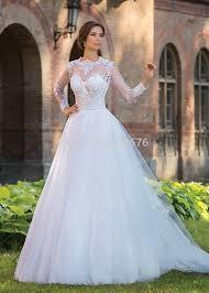 turmec simple long sleeve lace wedding dresses