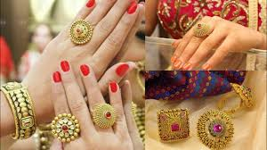 big gold rings images Latest big gold rings design ideas beautiful kundan polki ring jpg
