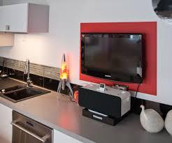 cuisine télé tv pour cuisine luxury ment aménager coin télé cuisine
