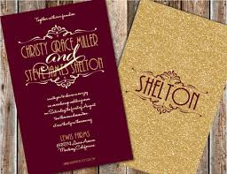 wedding invitations lewis maroon and gold wedding invitations gold glitter wedding