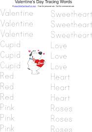 preschool worksheets for valentines day tracing cut and paste