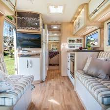 motor home interiors panoramic converted into beautiful and unique living space