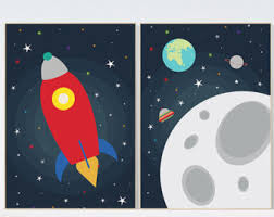 Kids Space Room by Outer Space Decor Etsy