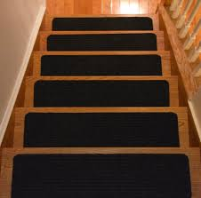 Non Slip Nosing Stairs by Flooring Black Indoor Non Slip Stair Treads Carpet For Wood Steps