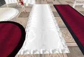 wedding runner second marketplace wedding runner white satin rug