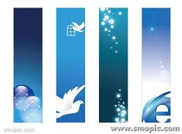 4 blue technology website banner background design template