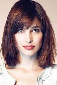 medium length hairstyles bangs fade haircut