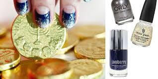 hanukkah nail how to create haute hanukkah nails hanukkah nail tutorial