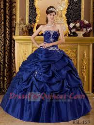 best quinceanera dresses navy blue gown beading appliques taffeta blue best