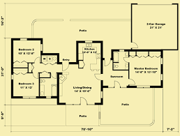 adobe floor plans adobe house plans for a small 1 story home with 3 bedrooms
