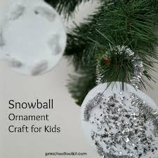 how to make a simple snowball ornament craft preschool toolkit