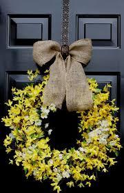 forsythia wreath forsythia wreath yellow forsythia forsythia wreath
