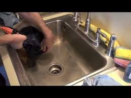How To Polish A Stainless Steel Kitchen Sink YouTube - Stainless steel kitchen sink cleaner