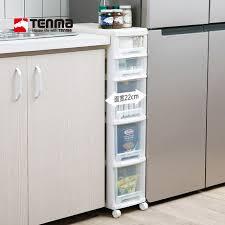 narrow storage cabinet for kitchen japan tenma household gap storage cabinet drawer type gap
