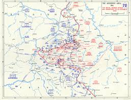 Map Of Belgium And Germany Map Of German Counterattack In The Ardennes The Battle Of The