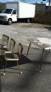 Vintage Retro Cracked Ice Dinette Table With  Chairs Chrome - Retro formica kitchen table